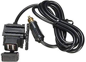 Negro TurnRaise 1.5A Moto USB Cargador ImpermeableCon Cambiar y Cable de 1,2M