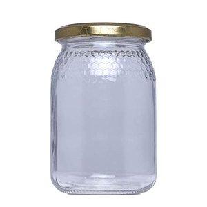 kioski Tarro De Cristal De Miel De 500ml Tarro De Miel Hecho A Mano con Cazo Miel De Vidrio Tarro De Miel Tarro De Miel De Vidrio para Cocina Casera