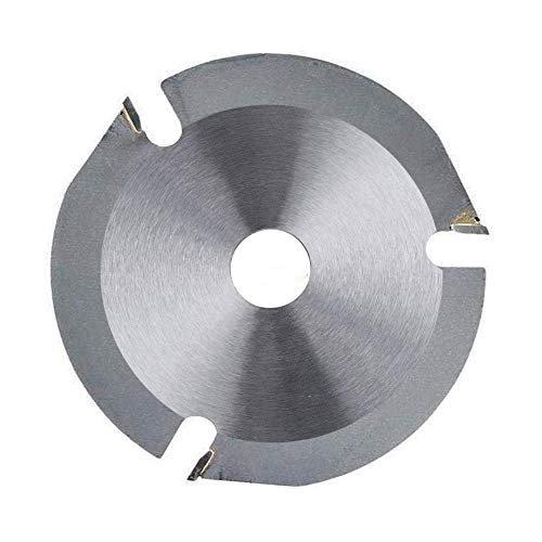 Disco de sierra de cadena de amoladora madera ruedas de corte de m piedra metal Accesorio de reemplazo de disco de talla de madera de amoladora de 4,5 pulgadas para madera contrachapada melamina