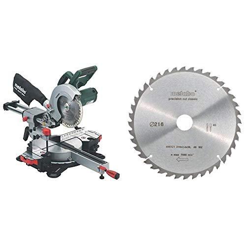 Sierra Ingletadora Radial Metabo 628060000 216mm hoja de sierra circular Metabo KGS 216 M 619260000 34 x 76 x 47.5 cm